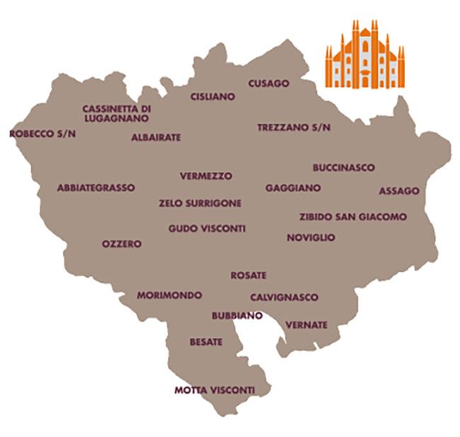 Mappa Distretto Riso e Rane